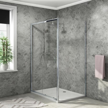 1200 x 900mm Sliding Door Shower Enclosure - Vega
