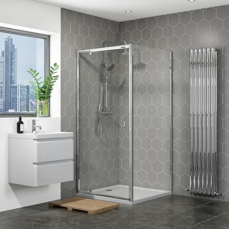 900 x 900mm Pivot Shower Enclosure with Shower Tray - Vega