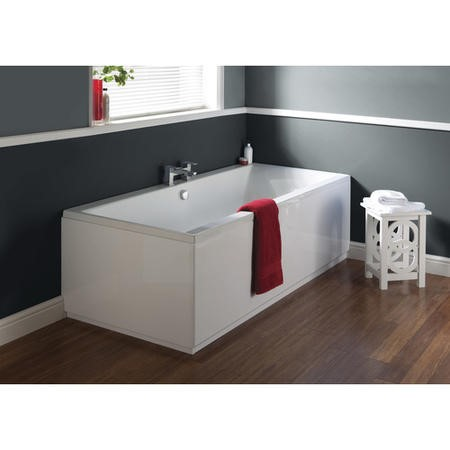 Asselby Double Ended Square Bath - 1700 x 700mm