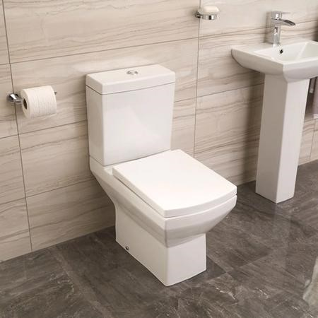 Tabor Close Coupled Toilet and Seat