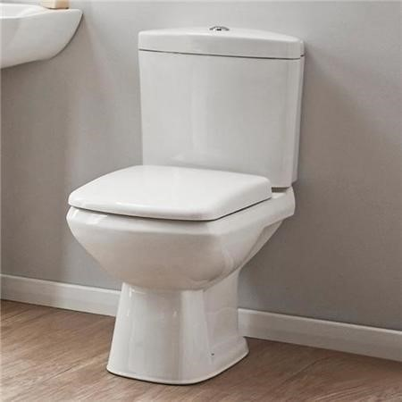 Square Close Coupled Toilet & Seat - Revive