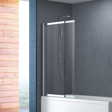 6mm Pivot and Slide Bath Screen - Juno Range