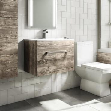 Wall Hung Basin Vanity Units Better, Mode Meier Grey Wall Hung Vanity Unit And Basin 600mm