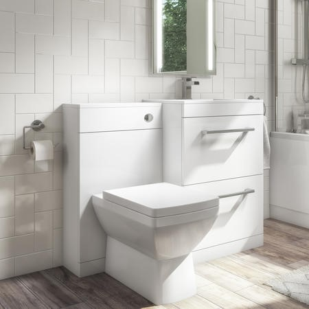 Universal Toilet and Basin Combination Unit - White - Ashford