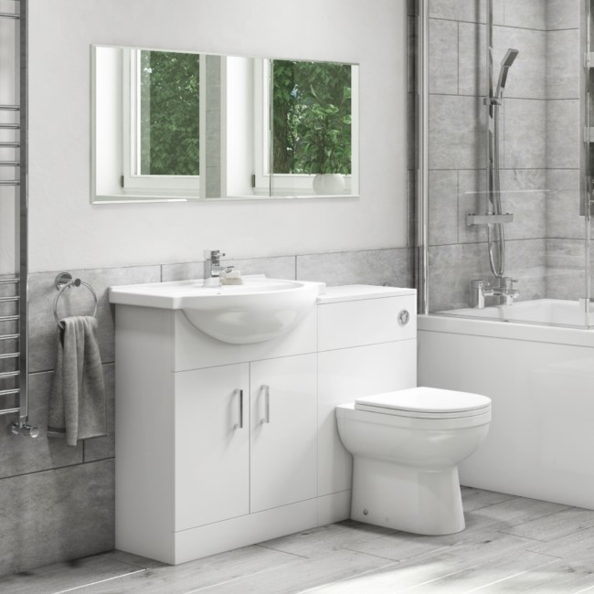 Classic 450mm Combination Unit with Addison 500mm Back to Wall Toilet