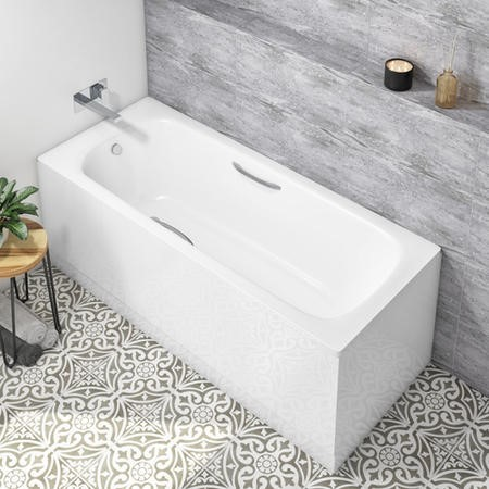 Single Ended Steel Bath with No Tap Holes and Grip Holes - 1700 x 700mm