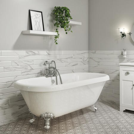 Park Royal Double Ended Freestanding Bath - 1795 x 785mm