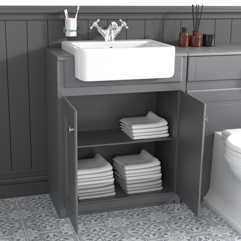 667mm Grey Freestanding Vanity Unit With Basin Westbury Better Bathrooms