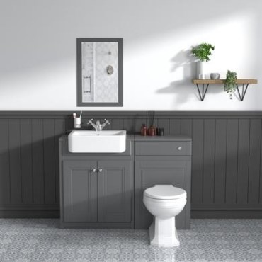 Grey Toilet And Sink Units Better Bathrooms