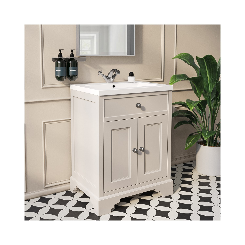 600mm White Freestanding Vanity Unit With Basin Burford Better Bathrooms