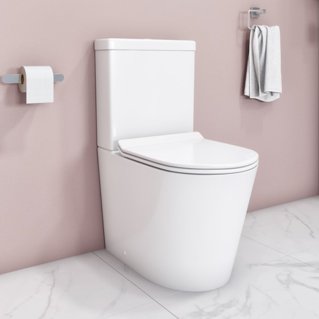 Newport Rimless Close Coupled WC and Soft Close Slim Seat