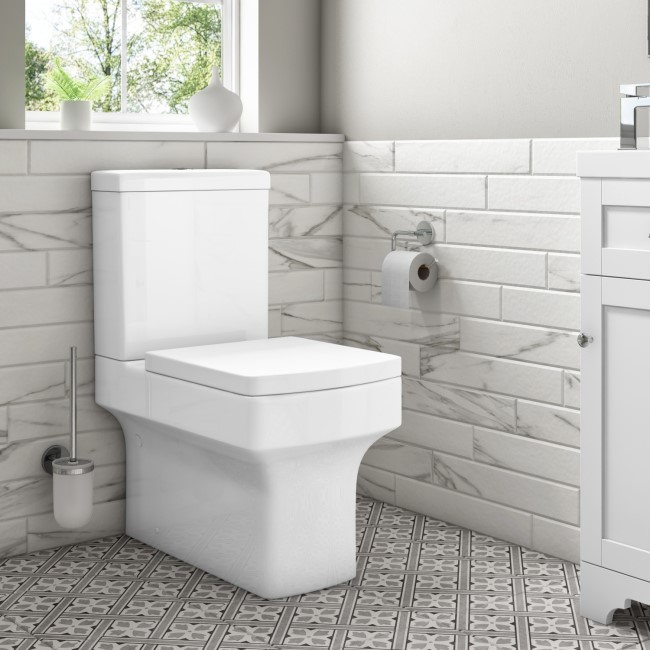 Ashford Rimless Close Coupled WC and Soft Close Wrap Seat