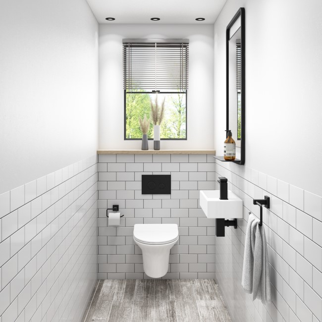 Valencia Rimless Wall Hung Toilet and Soft Close Slim Seat