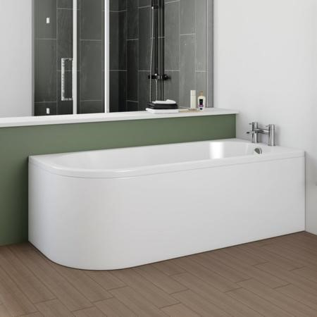 Jersey J Shaped Right Hand Bath with Bath Panel - 1700mm x 750mm