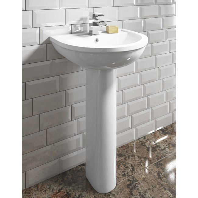 Addison 1 Tap Hole Basin and Full Pedestal