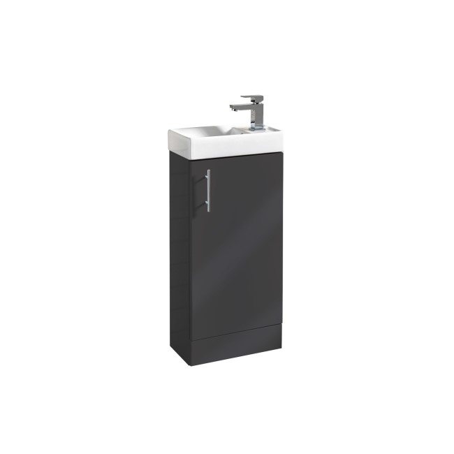 400mm Anthracite Freestanding Vanity Unit with Basin - Cranbrook