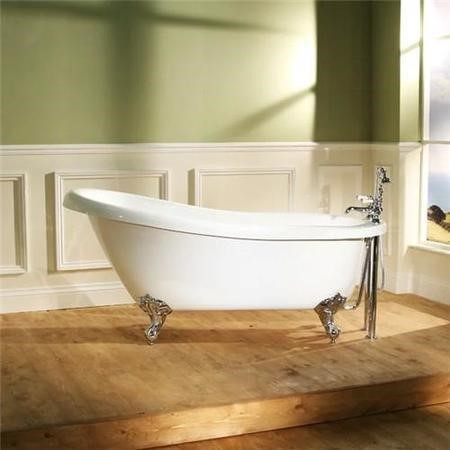 1570 x 705 Park Royal™ Slipper Bath with Bath Waste