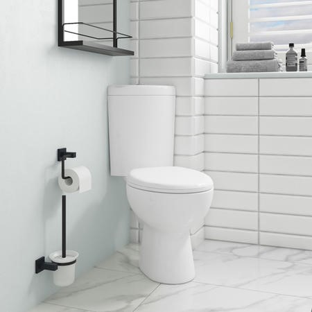 Close Coupled Corner Toilet With Soft