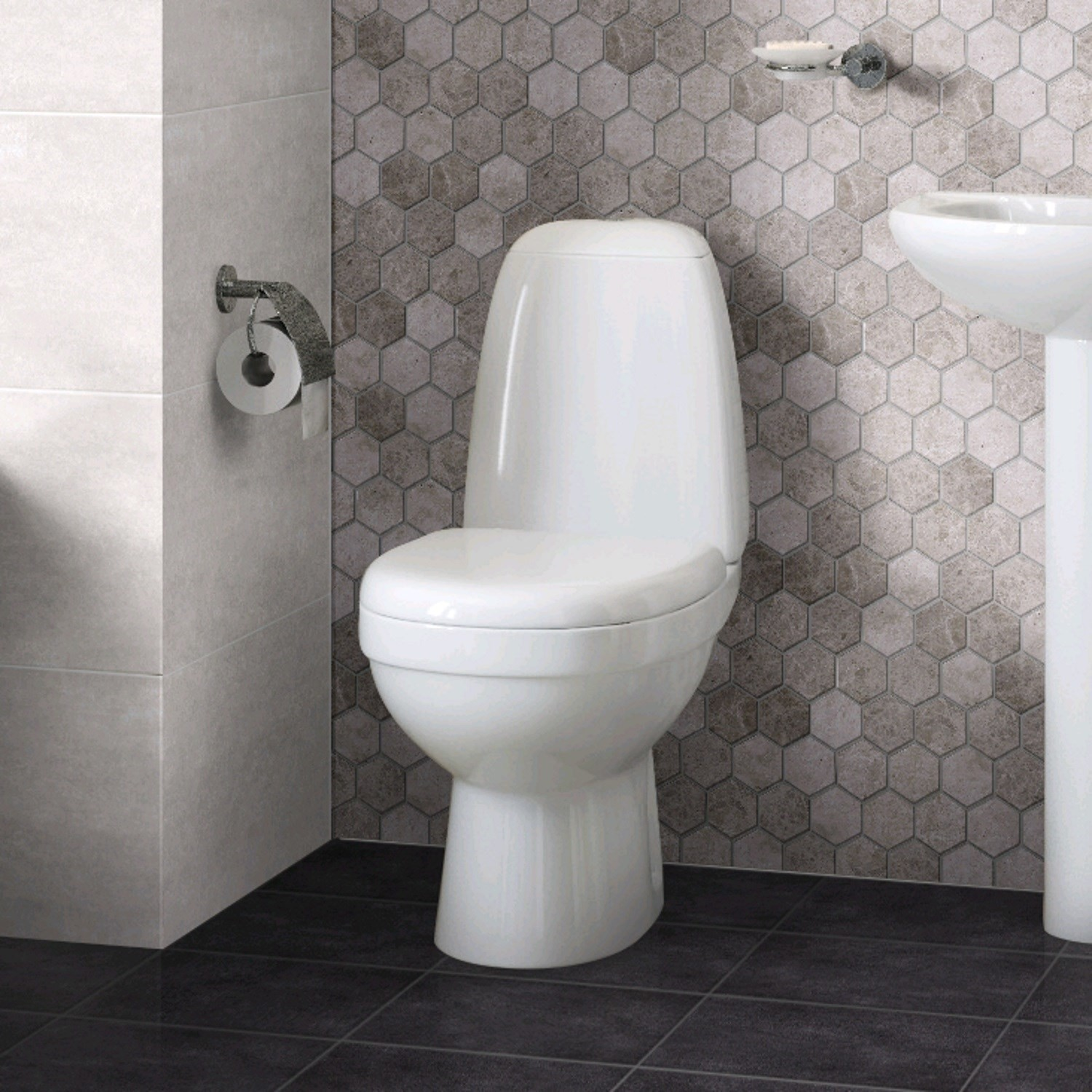 Terrific Cova Close Coupled Toilet With Soft Close Seat Ocoug Best Dining Table And Chair Ideas Images Ocougorg
