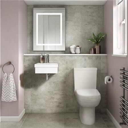 Micro 400mm Cloakroom Suite