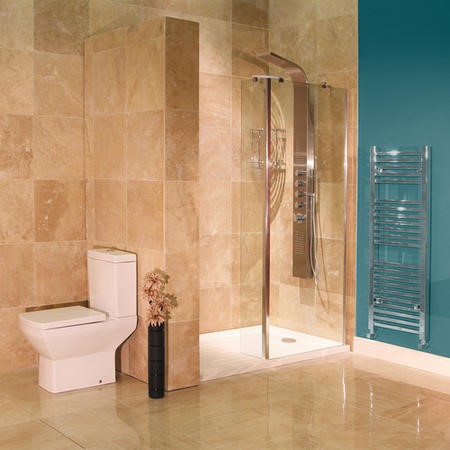 Aqualine 8mm 1400 x 900 Walk In Recess Enclosure with Ultralite Shower Tray