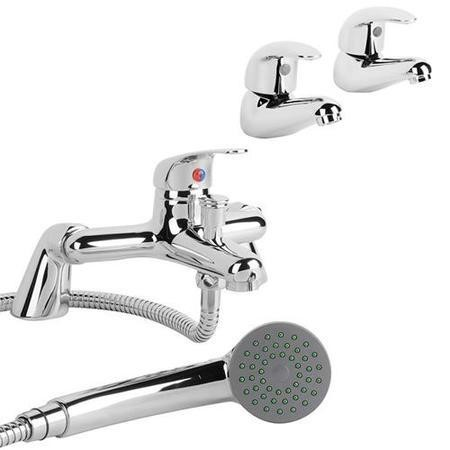 Alfa Basin Taps & Bath Shower Mixer Pack