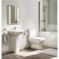 Tabor 460mm Full Pedestal  and Close Coupled Toilet Suite