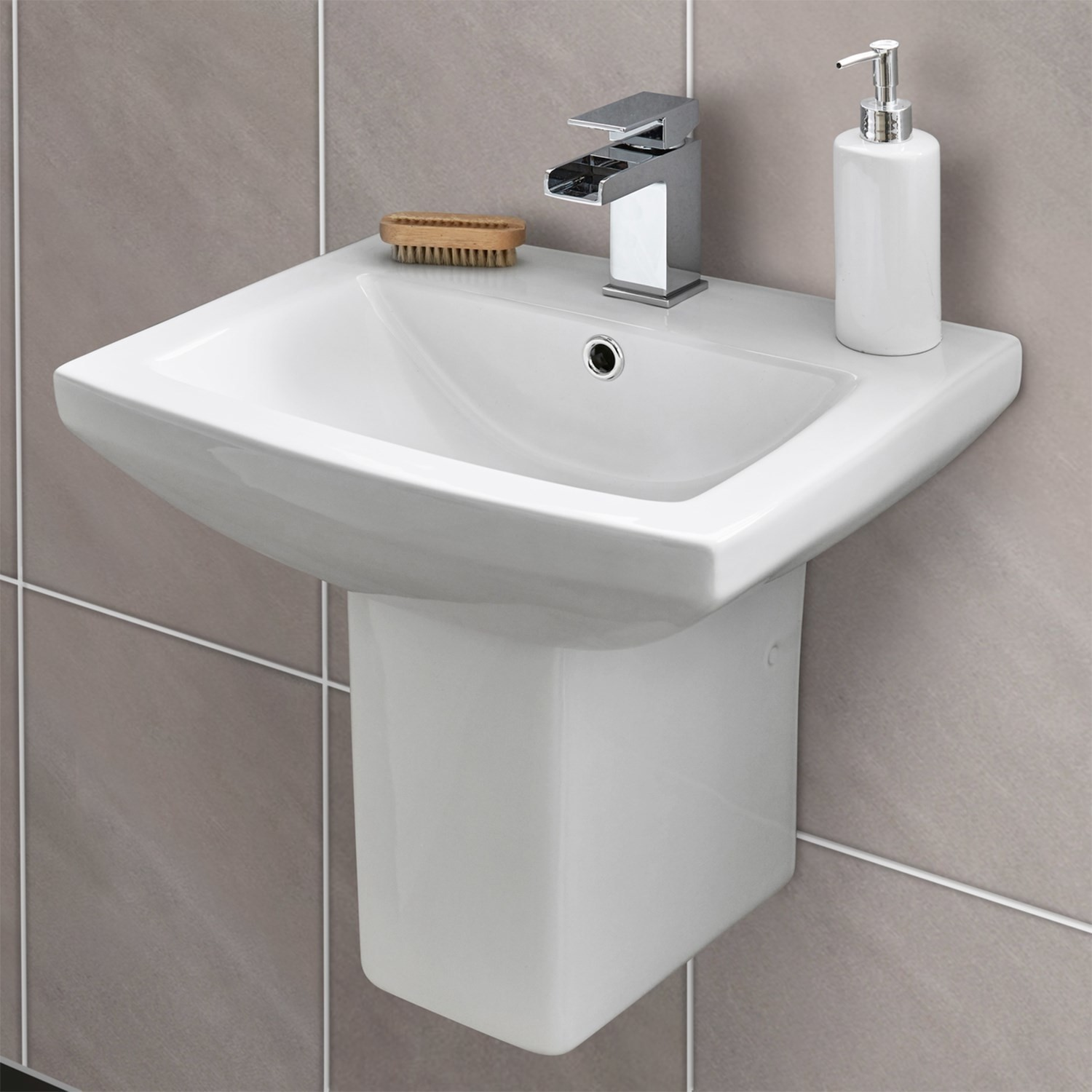 Tabor Close Coupled Toilet And Semi Pedestal Basin Suite Better Bathrooms