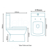 Tabor 56 Close Coupled Toilet and Semi Pedestal Basin Suite