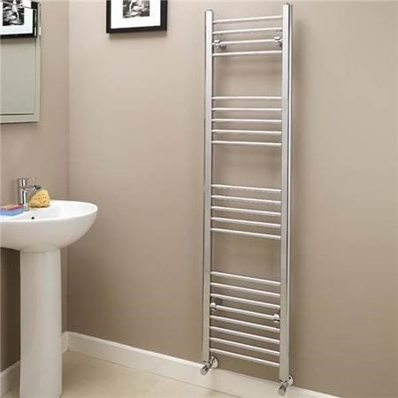 Eco Heat 1600 x 400mm Straight Chrome Heated Towel Rail
