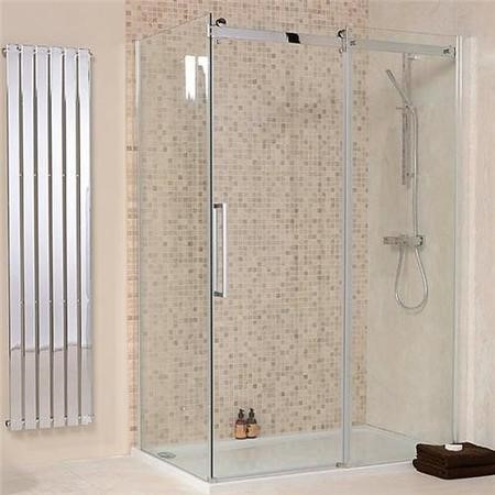 1200 x 900 Aquafloe Elite 8mm Sliding Shower Enclosure Old