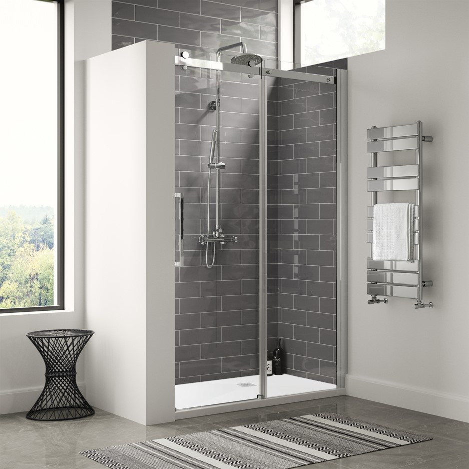 1200mm Frameless Sliding Shower Door Shower Tray