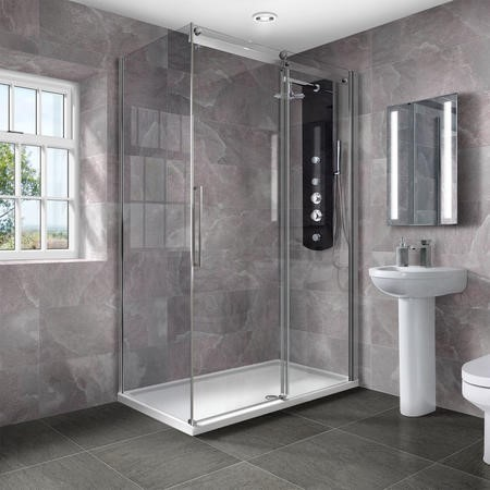 1400 x 800 Aquafloe Elite ll 8mm Sliding Shower Enclosure