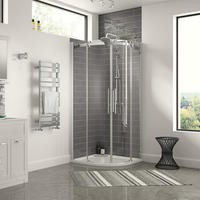 900 x 900mm Frameless Quadrant Shower Enclosure 8mm Glass - Aquafloe Elite II