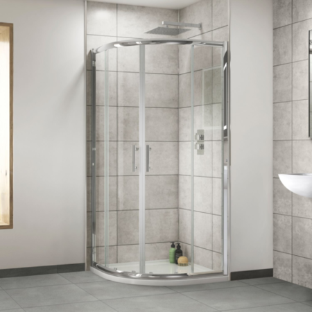 Sliding Door Quadrant Enclosure 800 x 800mm - 6mm Glass - Aquafloe Range