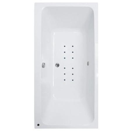 Turin 1800 x 1100 Double Ended Airspa Bath-Double Bath Screen
