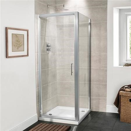Pivot Shower Enclosure 760 x 700mm - 6mm Glass - Aquafloe Range
