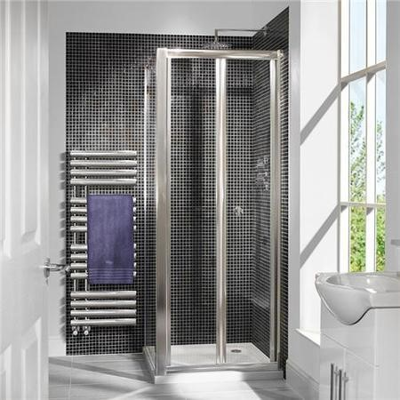 Bi-Fold Shower Enclosure with Tray 800 x 700mm - 6mm Glass - Aquafloe Range