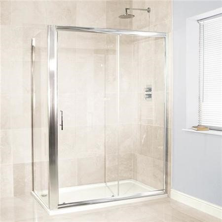 Sliding Shower Enclosure 1400 x 700mm - 6mm Glass - Aquafloe Range