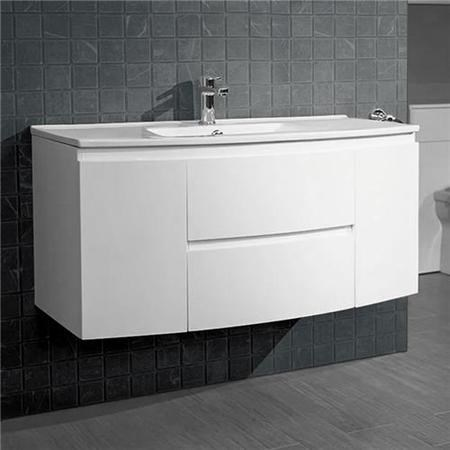 1010mm  Wall Hung Vanit Unit with Basin - Doors & Drawers - Voss