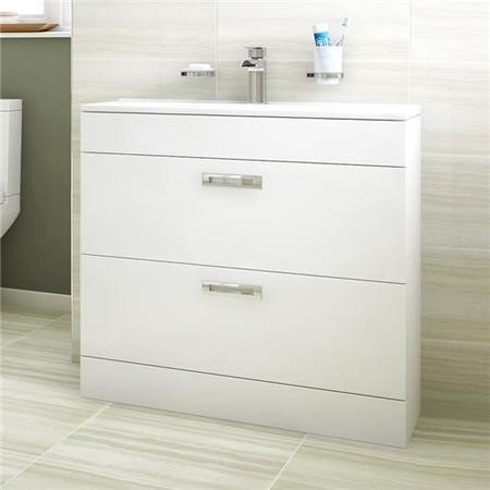 Aspen Compact 800 Floor Mounted 2 Drawer Vanity Unit