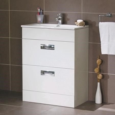 Aspen Compact 600 Floor Mounted 2 Drawer Vanity Unit