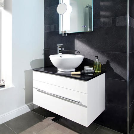 Aspen 750mm Black Sparkle Pacific Vanity Set