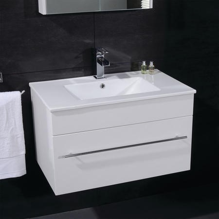 Aspen 700mm Wall Mounted White Vanity Unit