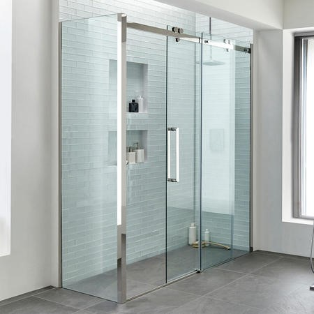 1700 Trinity Premium 10mm Left Hand Shower Enclosure with 760 Side Panel