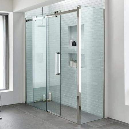 1200 Premium 10mm Right Hand Shower Enclosure with 800 Side Panel - Trinity Range