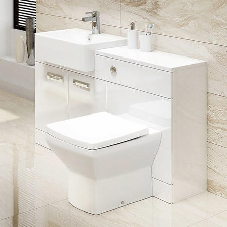 Toilet and Basin Combination Unit with Tabor Back to Wall Toilet- Cuba
