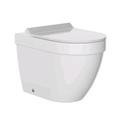 Aurora Back to Wall Toilet & Round Thin Seat