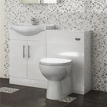 Windsor™ 55 White Combination Unit with Tampa BTW Pan & Soft-close Seat