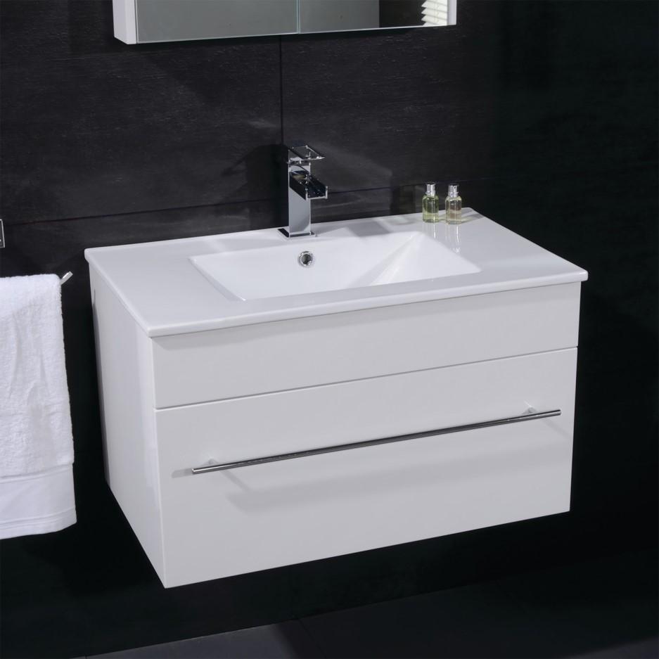 Aspen 600mm Wall Hung Vanity Basin Unit Drawer White Better Bathrooms
